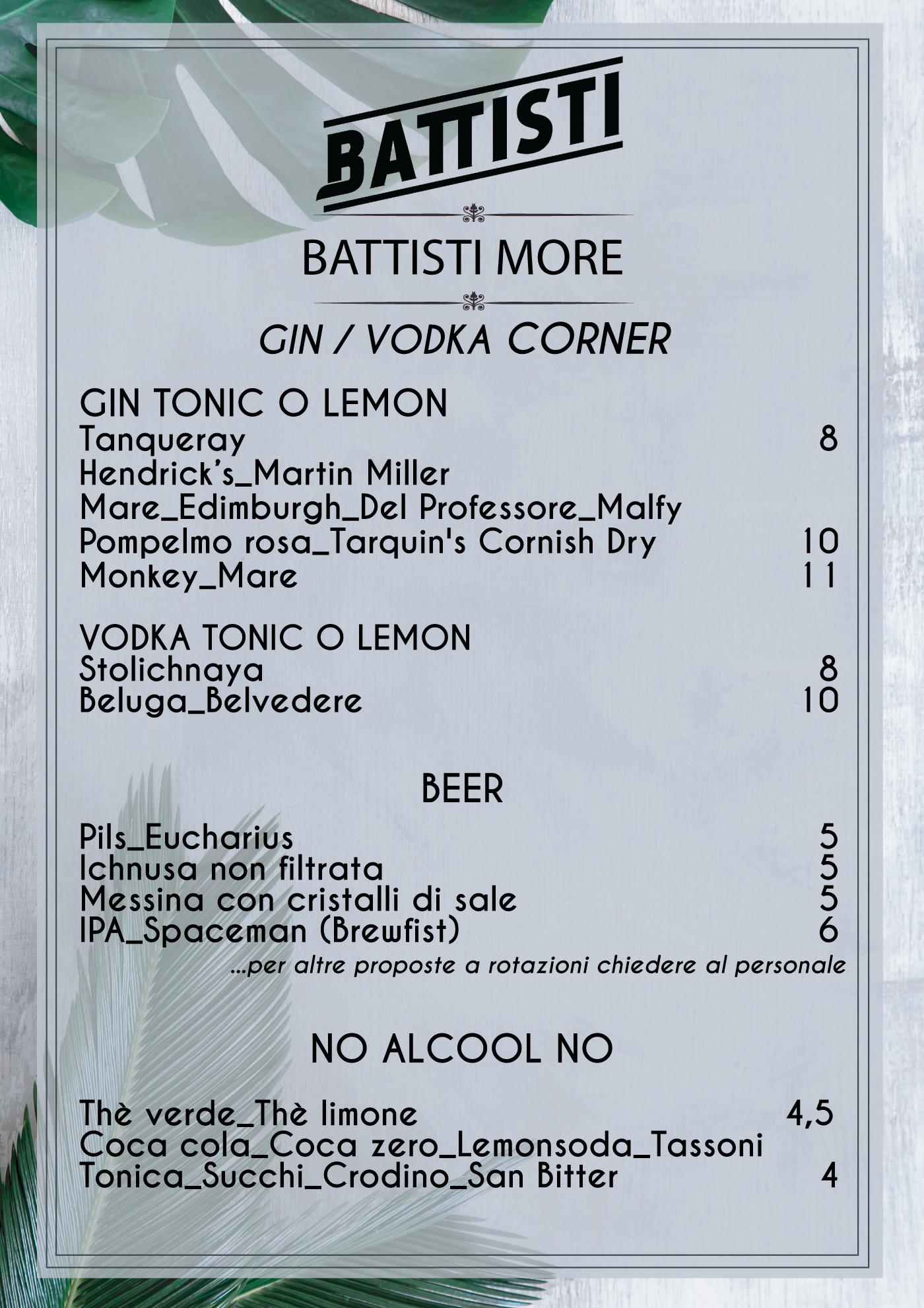 menu battisti drink